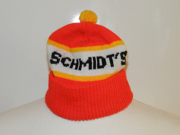 Vintage Schmidts Winter Hat With Pom Pom