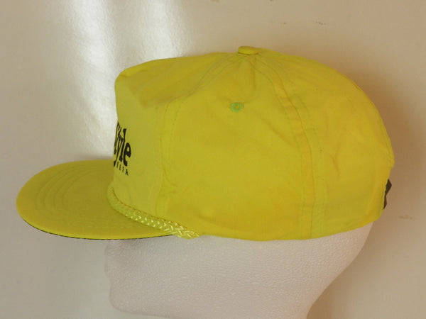 Vintage Old Style Neon Yellow Snapback Hat