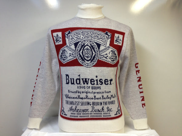 Vintage Budweiser Turtleneck Sweater Medium