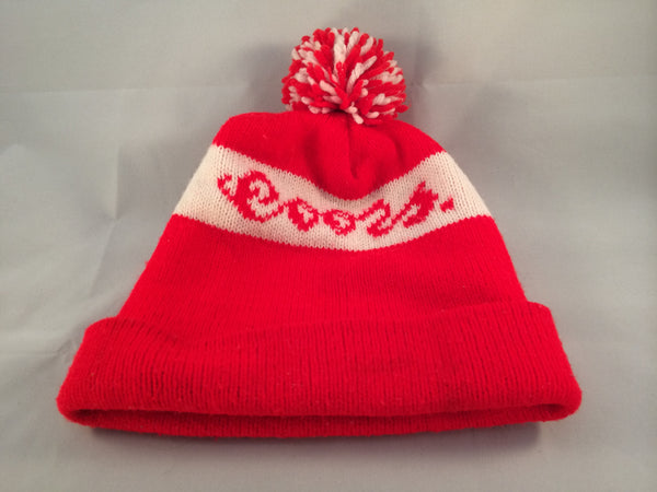 Vintage Coors Winter Hat With Pom Pom