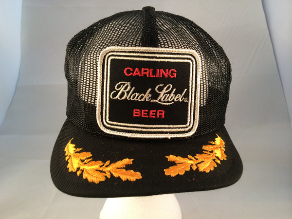 Vintage Black Label Snapback Hat