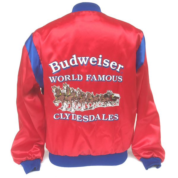 Vintage Budweiser Clydesdales Beer Coaches Jacket GOLD RUSH DAYS