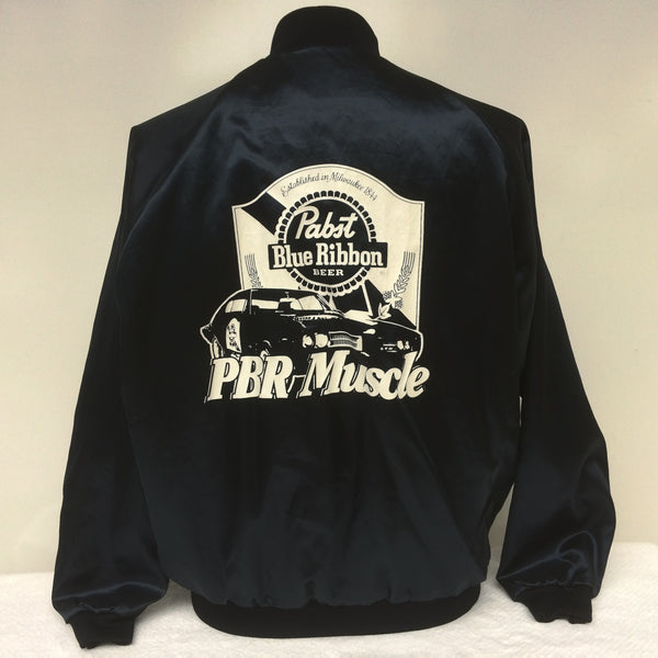 Vintage Pabst Blue Ribbon Beer Satin Jacket
