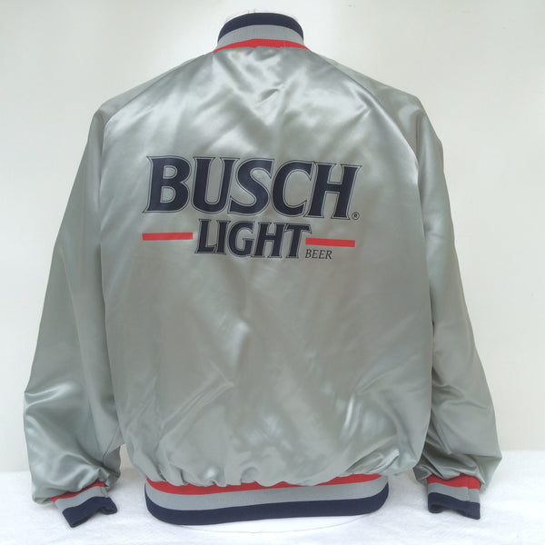 Vintage Busch Light Beer Coaches Jacket