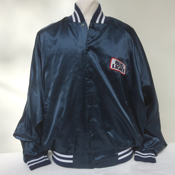 Vintage Bud Light Beer Coaches Jacket 2XL
