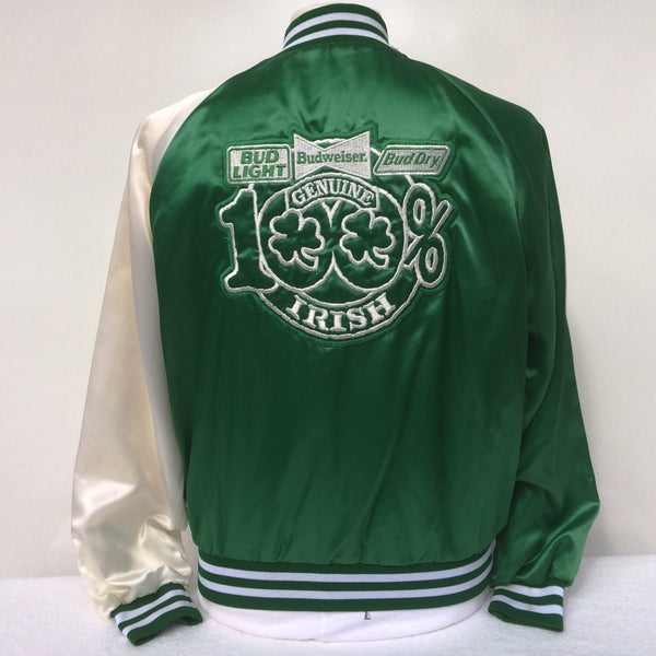 Vintage Budweiser Beer Irish St Patties Day Coaches Jacket