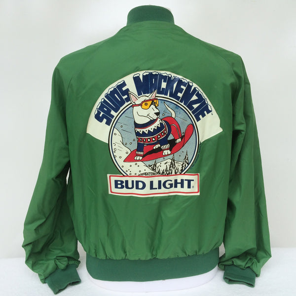 Vintage Spuds Mackenzie Bud Light Beer Coaches Jacket