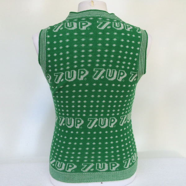 Vintage 7up Soda Pop Sweater Vest