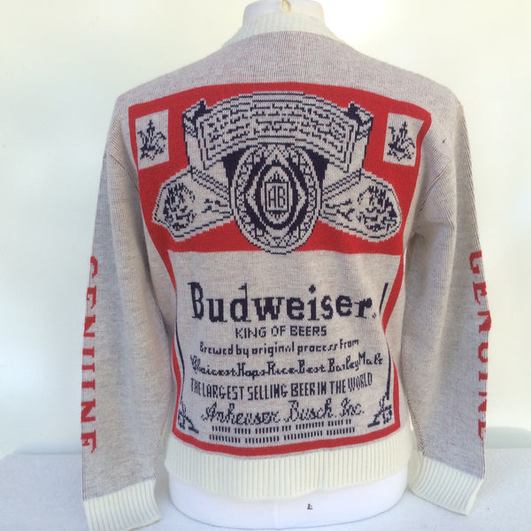 Vintage White Budweiser Sweater