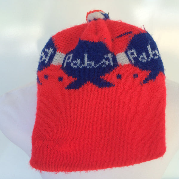 Vintage Pabst Winter Hat With Pom Pom