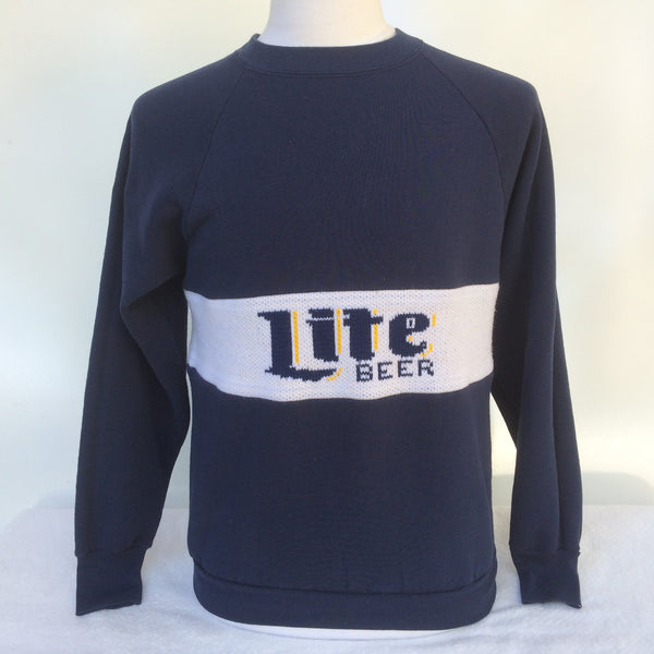 Vintage Miller Lite Sweater and Sweatshirt Combo