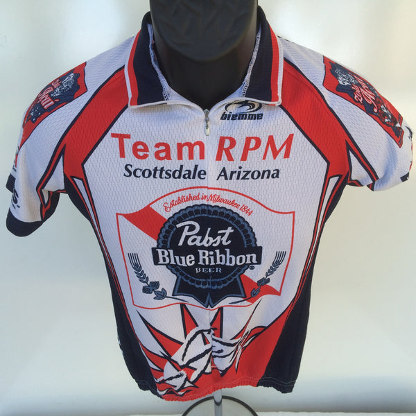 Pabst Blue Ribbon Bicycle Jersey Small
