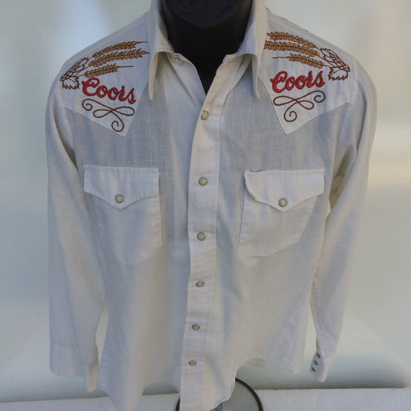 Vintage Coors embroidered Western Button Up