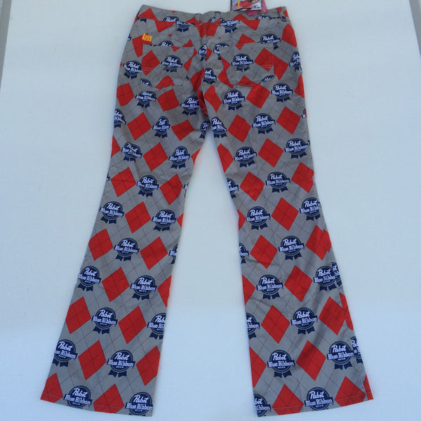 Pabst Blue Ribbon Loudmouth Golf Pants Size 10