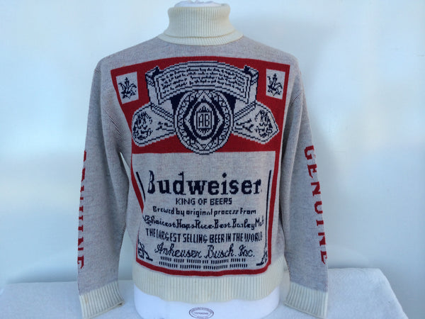 Vintage Budweiser Turtleneck Sweater Large