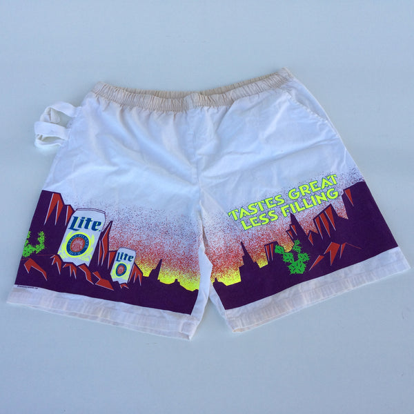 Vintage Miller Lite Shorts with Can Holder