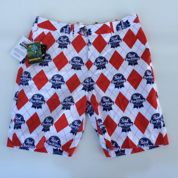 Pabst Blue Ribbon Loudmouth Golf Shorts
