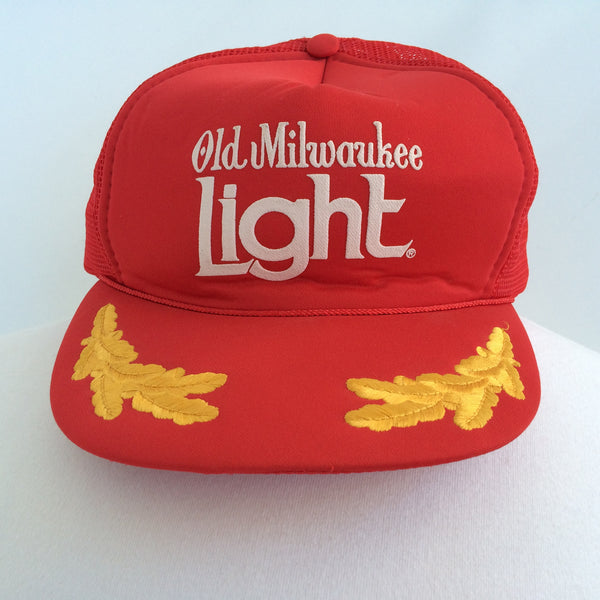 Vintage Old Milwaukee Light Snapback Hat