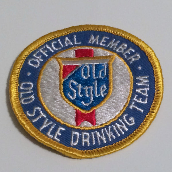 Vintage Old Style Beer Patch Small