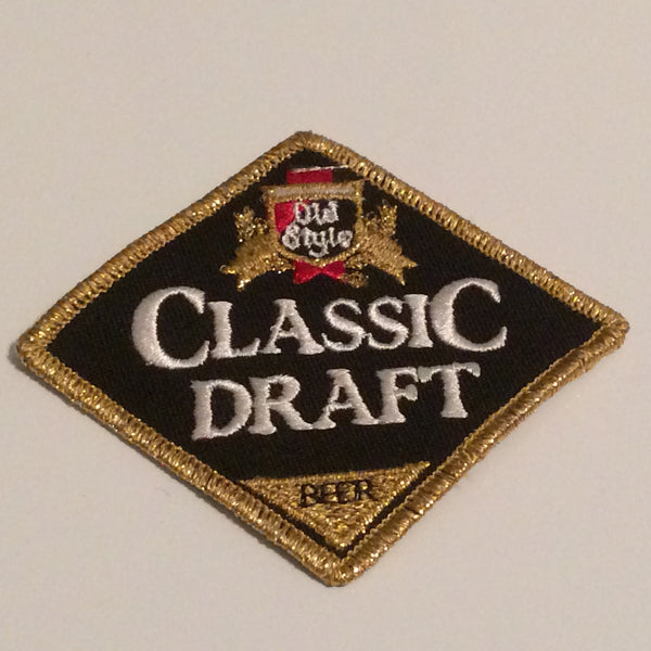 Vintage Old Style Light Classic Draft Beer Patch Small