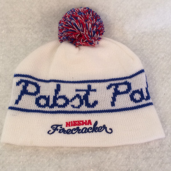 Pabst Blue Ribbon Winter Beanie With Pom Pom