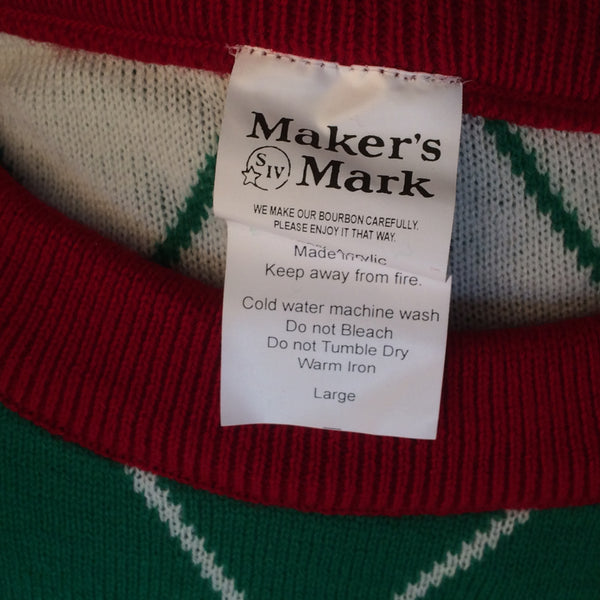 Makers Mark 46 Ugly Christmas Sweater Large