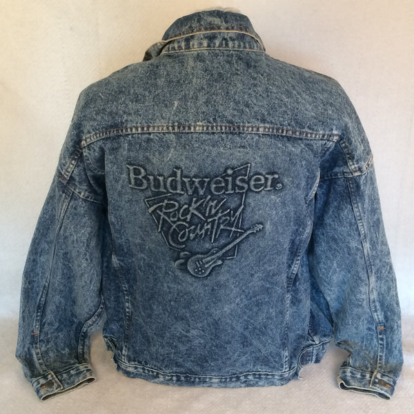 Vintage Budweiser Rock'n Country Denim Button Up Jacket