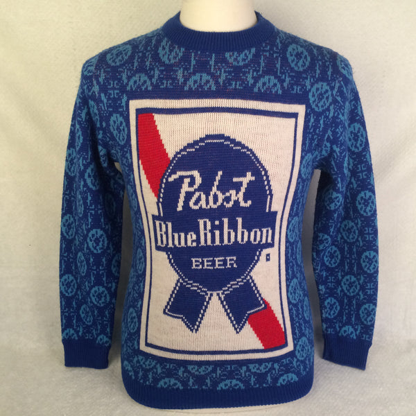 Vintage Pabst Blue Ribbon Beer Sweater