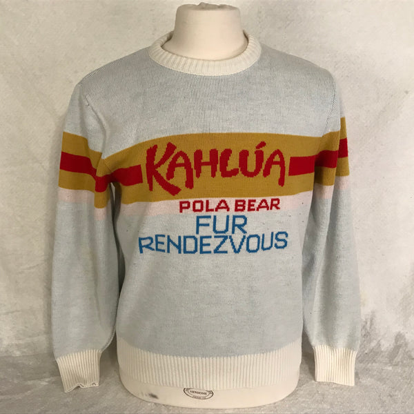Kahlua Vintage Liquor Sweater Pola Bear Fur Rendezvous