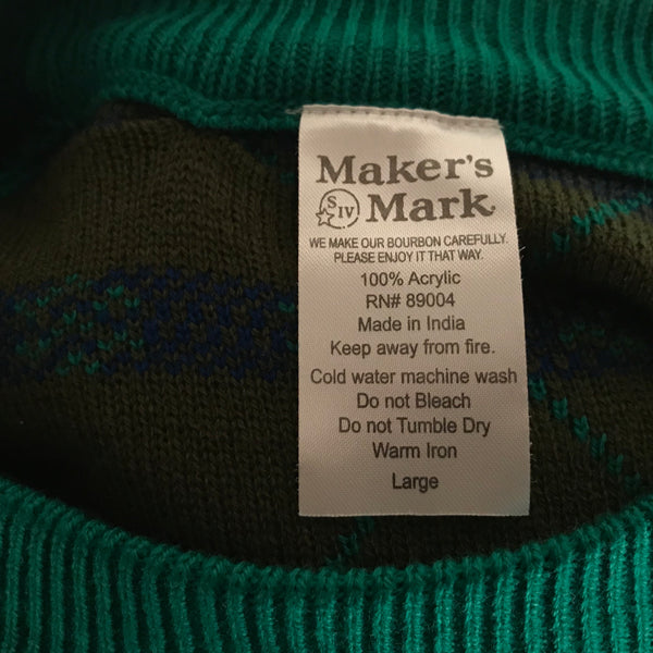 Makers Mark Ugly Christmas Sweater Large