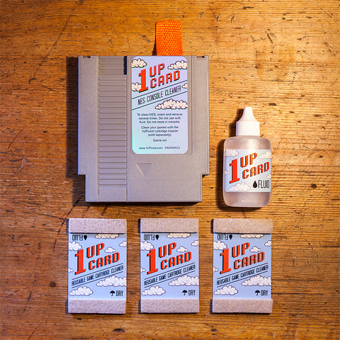 NES console cleaner and game cartridge cleaner bundle by 1UPcard