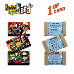 Angry Video Game Nerd collectible 1UPcard™ Video Game Cartridge Cleaning Cards - 3 Pack