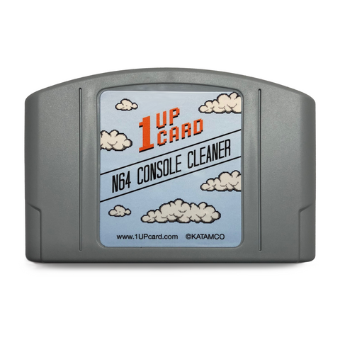 N64 Console Cleaner - Nintendo 64 Cleaning Kit - 1UPcard Cartridge (New)