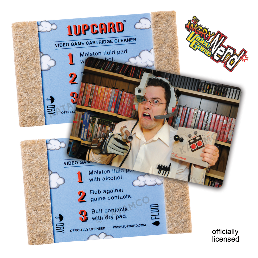 AVGN 1UPcard™ 3 Pack - Nerd Gear - Officially Licensed Angry Video Game Nerd game cartridge cleaners