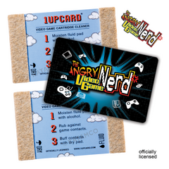 AVGN 1UPcard™ 3 Pack - Nerd Logo - Officially Licensed Angry Video Game Nerd game cartridge cleaners