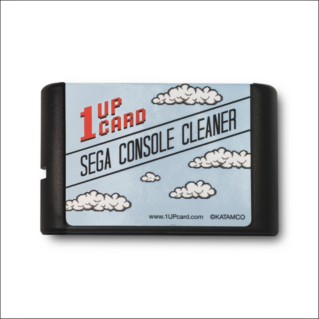 SEGA Console Cleaner - SEGA Genesis / Mega Drive Cleaning Kit - 1UPcard Cartridge (New)