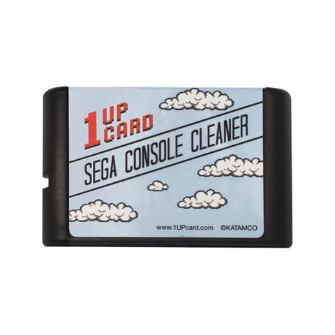 SEGA Console Cleaner - SEGA Genesis / Mega Drive Cleaning Cartridge by 1UPcard™