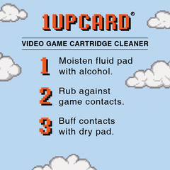 Gaming Historian 1UPcard™ 3 Pack - Multi-Pack - Officially Licensed game cartridge cleaners