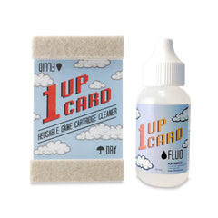 1UPcard™ Video Game Cartridge Cleaning Kit - Card with Fluid