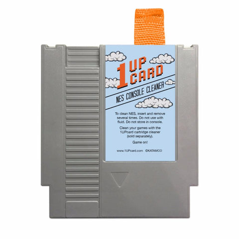 NES Console Cleaner - Nintendo Cleaning Kit - 1UPcard Cartridge (New)