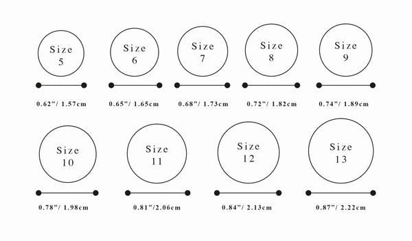 Sizing loren stewart ring sizing measurements reflect ring sizes in the us and canada open band style rings can accommodate the size selected and adjustable by approximately a greentooth Choice Image