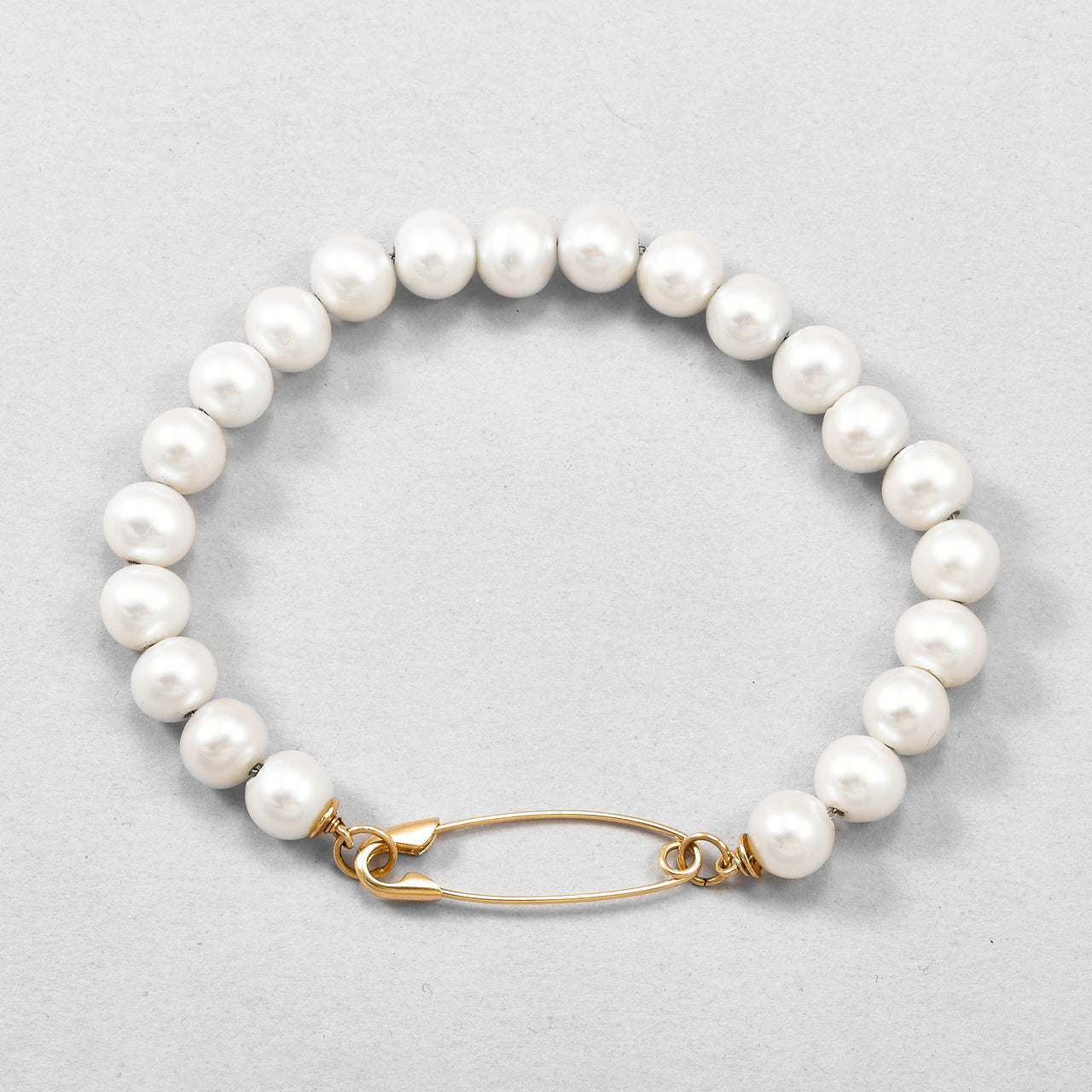 Pearl Safety Pin Bracelet