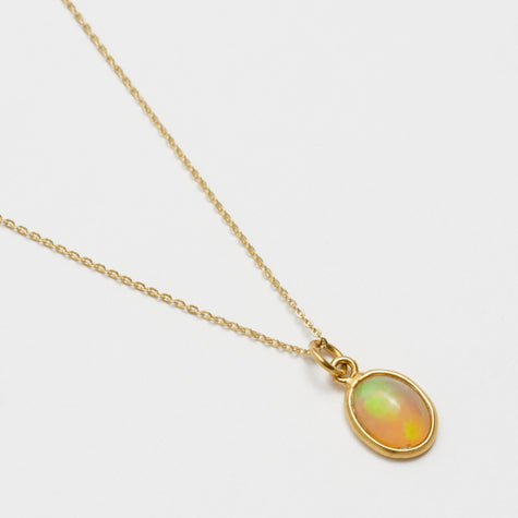 18'' Opal Pendant Necklace