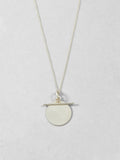 Sterling Silver Disk & Toggle Necklace