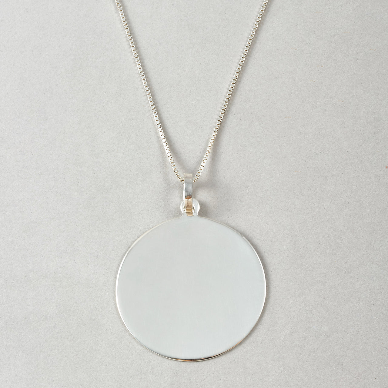 Sterling Silver XL Disk Pendant