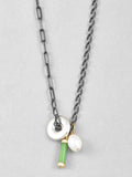 Jade Baril Pearl Donut Mixed Chain Necklace