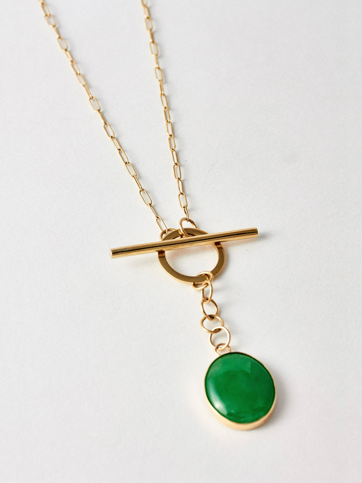 Jade Toggle Necklace