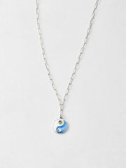 Silver Yin Yang Pendant Necklace