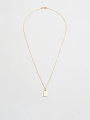 Klint ID Tag Charm Necklace