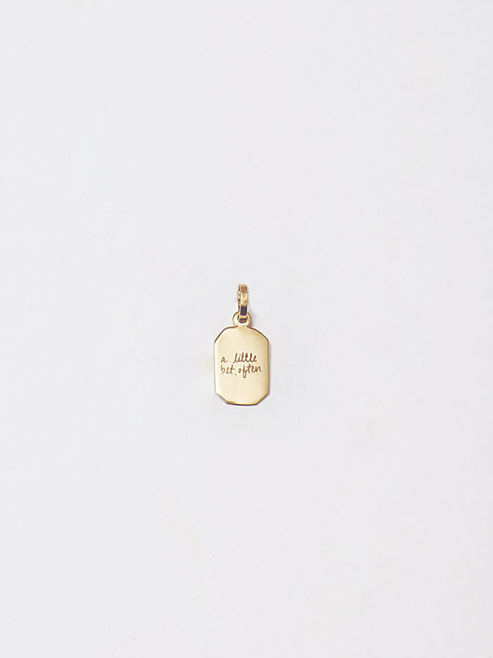 """A Little Bit Often"" Octagonal ID Pendant X Bianca Valle"